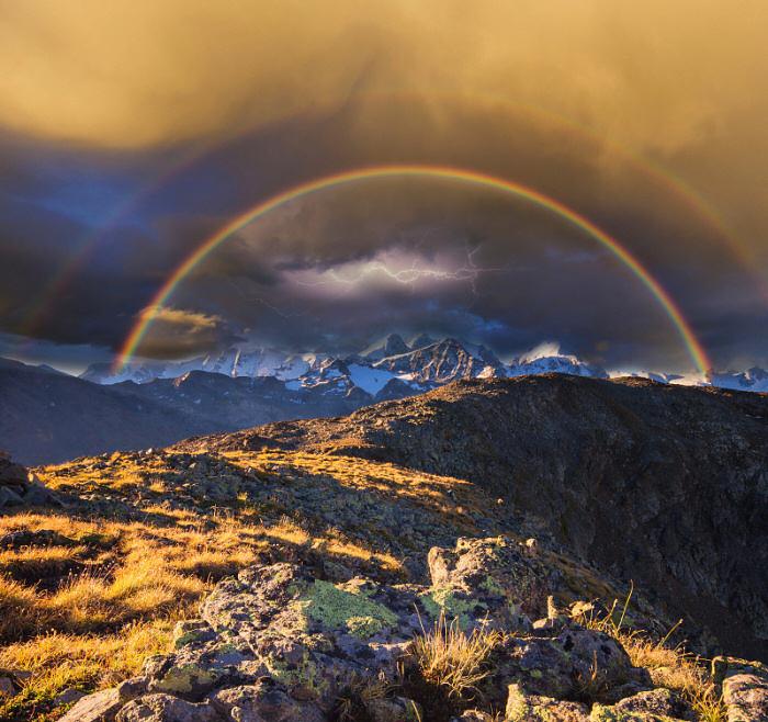 Total realistisches Wetterbild