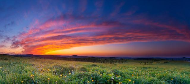 Sonnenuntergang auf der Traugotthöhe