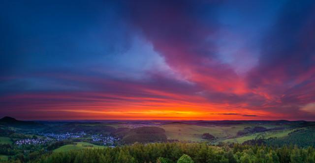 Panorama Kohlhaukuppe bei Sonnenaufgang
