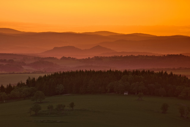 Blick von der Kohlhaukuppe über den Hutberg bei Geising