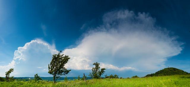 Gewitterwolken am Geisingberg