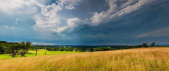 Gewitterwolken bei Altenberg