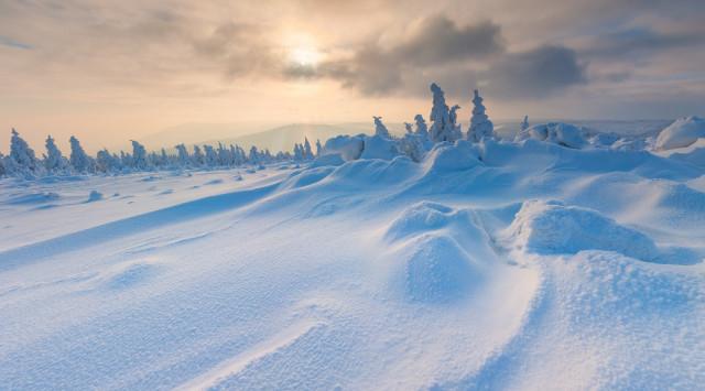 Winterlandschaft am Pramenáč