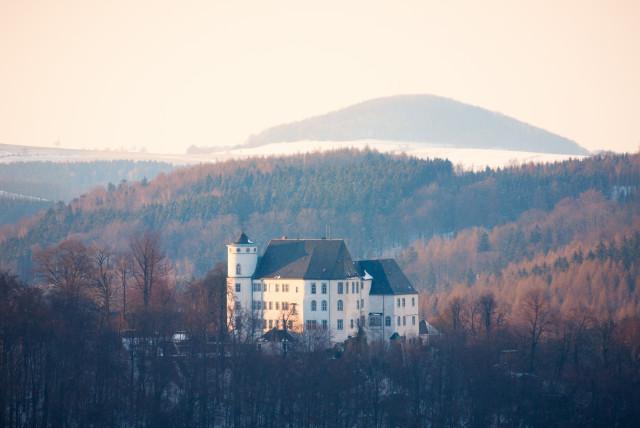 Schloss Bärenstein vor dem Luchberg