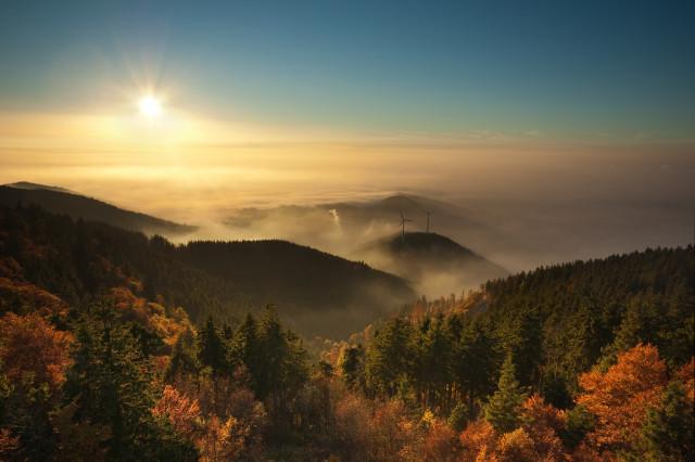 Inversionswetterlage am Schauinsland