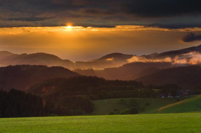Sonnenuntergang am Hohlen Graben
