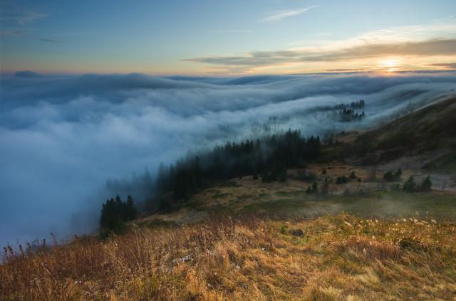 Feldberg über den Wolken