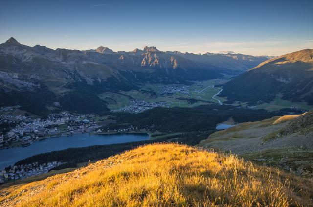 Abendlicht über St. Moritz