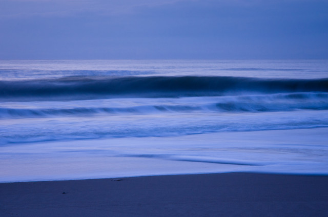 Nordseestrand in der Abenddämmerung