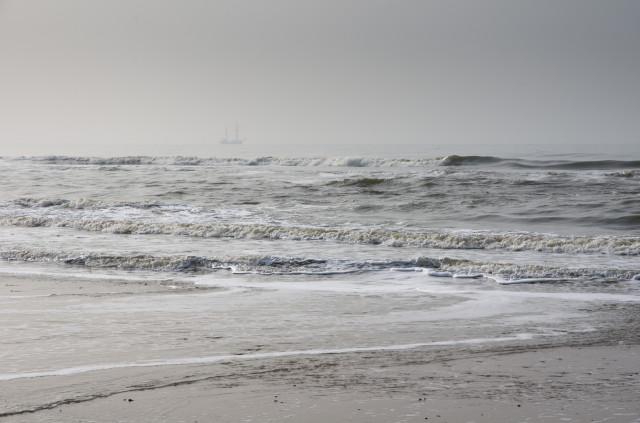 Neblige Nordsee-Impression