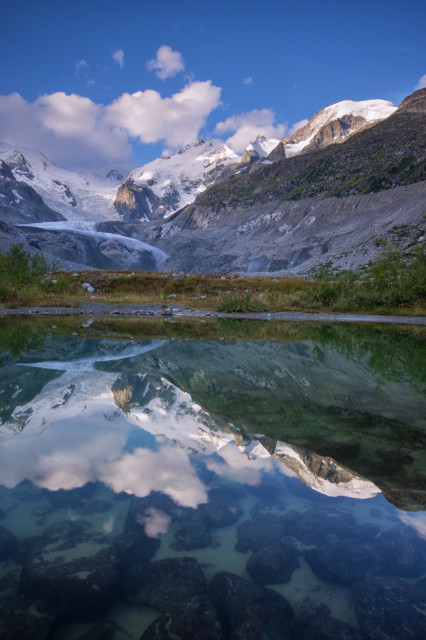 Val Morteratsch, Blick zum Piz Bernina