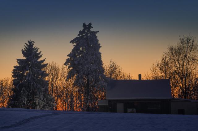 Winterabenddämmerung