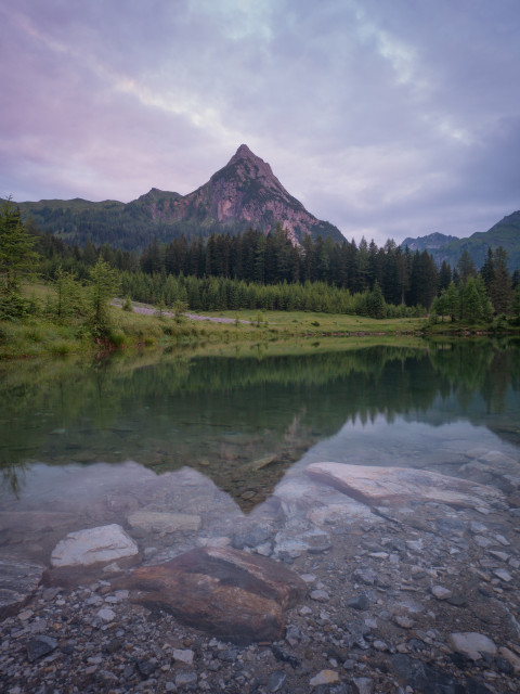 Blick zur Riedingspitze vom Schlierersee