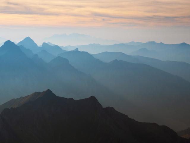 Blick vom Großen Widderstein nach Südwesten