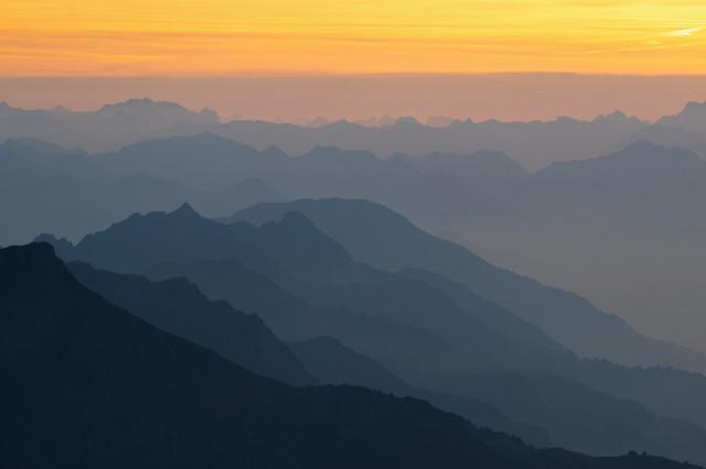 Großer Widderstein, Aussicht vom südwestlichen Nebengipfel