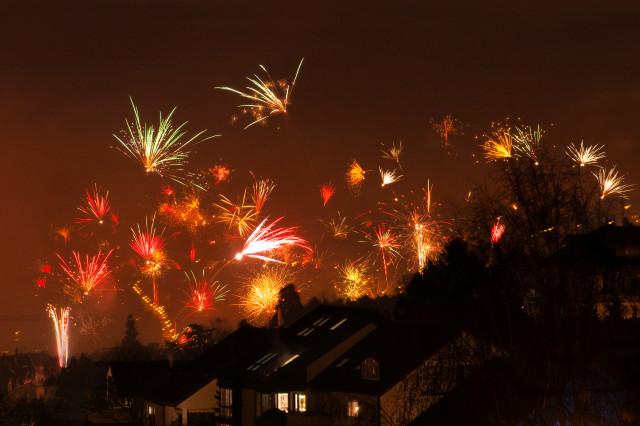 Silvesterfeuerwerk in Stuttgart