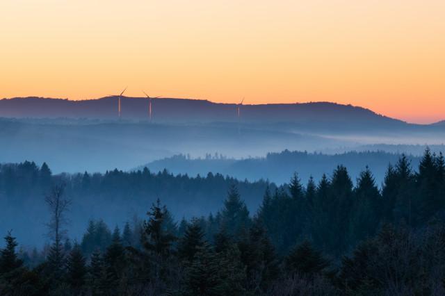 Blick nach Westen von der Büchenbronner Höhe