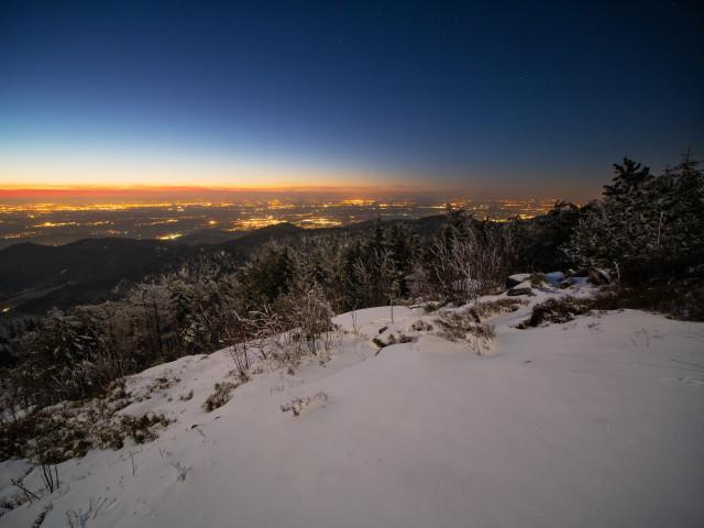 Aussicht von der Hornisgrinde bei Nacht