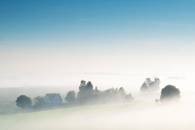 Morgennebel über Lengefeld