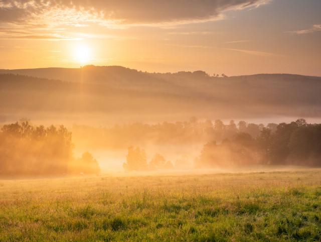 Sonnenaufgang über dem Flöhatal