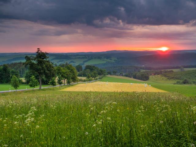 Blick von der Annahöhe bei Sorgau