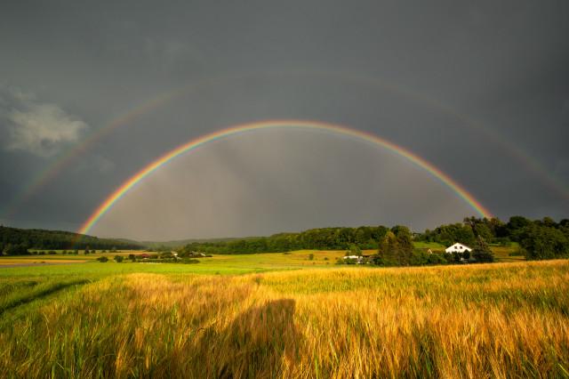 Regenbogen über dem Hölzertal