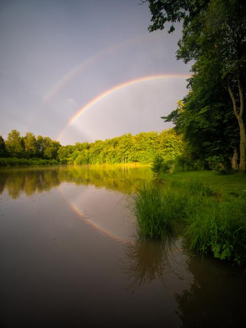 Hölzersee mit Regenbogen