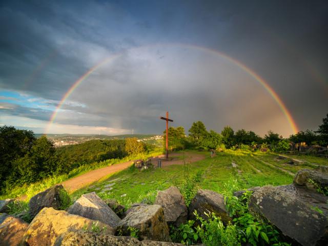 Regenbogen über dem Birkenkopf