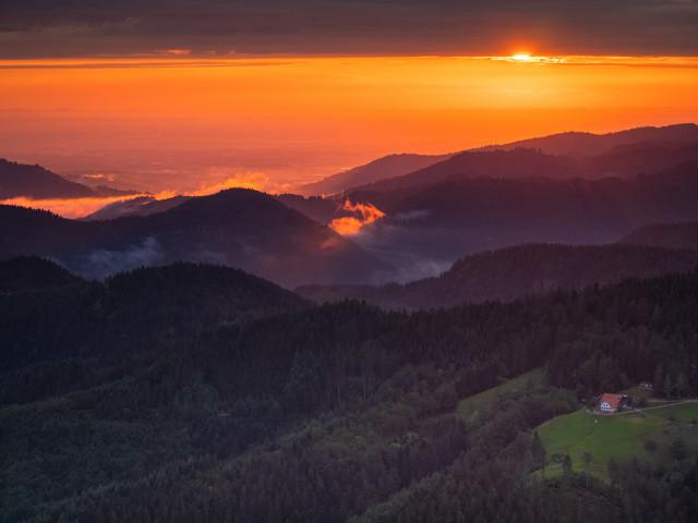 Sonnenuntergang auf dem Buchkopfturm