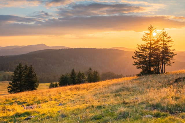 Sonnenuntergang am Feldberg