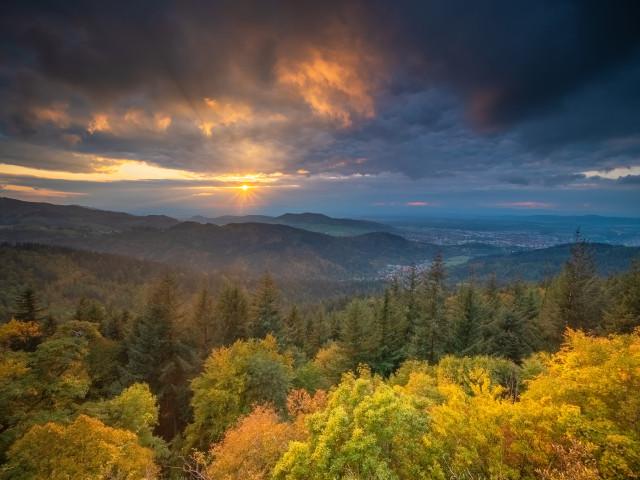 Herbstabend auf dem Kybfelsen
