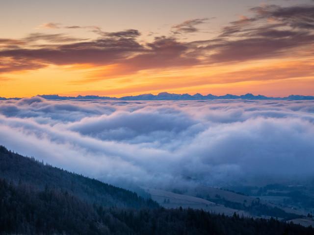 Spätherbstliche Inversion auf dem Herzogenhorn