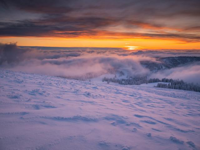 Winterabend auf dem Feldberg