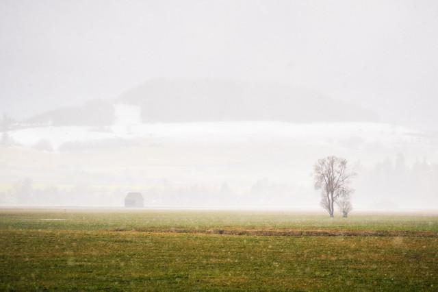 Schneefall vor dem Fürstenberg
