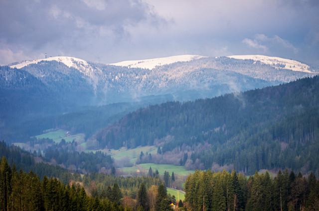 Frühlingsschnee auf dem Feldberg
