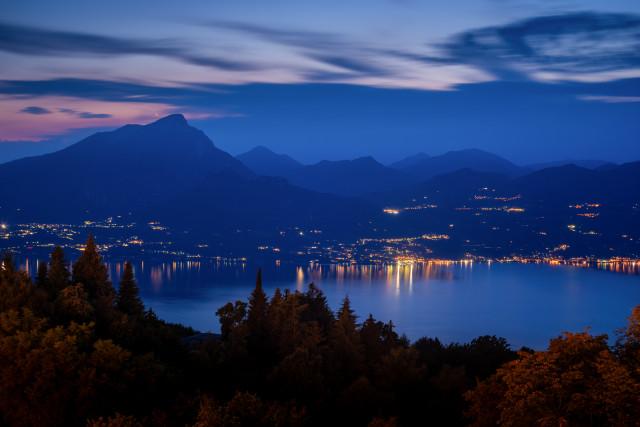 Gardaseeblick von San Zeno aus