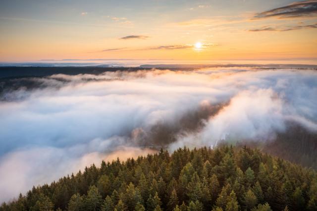Sonnenaufgang über dem Bregtal