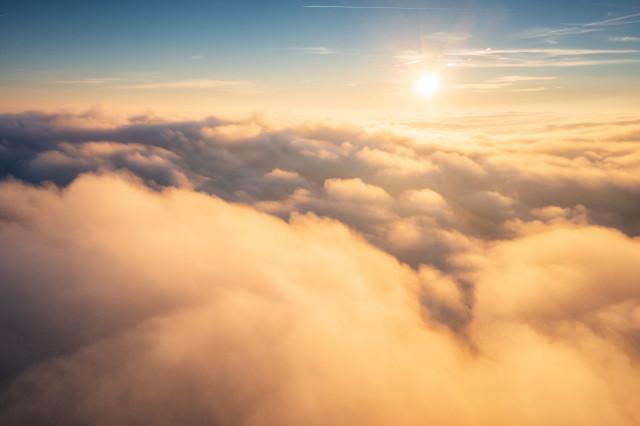 Hochnebel aus der Luft